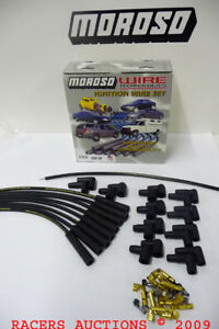 Mag tune Race Universal 8mm Spark Plug Wires Hei points Straight Moroso 9881m