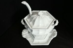 Red Cliff Ironstone Vintage 4 Piece Soup Tureen Complete Toureen