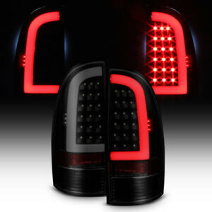 For Black Smoked 2005 2015 Toyota Tacoma Led Tube Tail Lights Lamps Left Right