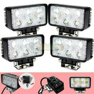 4x 5 18w Square Flood Led Work Fog Driving Light Offroad Lamp Suv 4wd Atv Truck