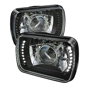 1995 1996 1997 Toyota Tacoma 7x6 H6052 h6054 Semi sealed Beam Black Diamond