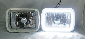 1982 1985 Ford Exp 7x6 H6014 6052 6054 Chrome Crystal Smd Ring Halo White Hea