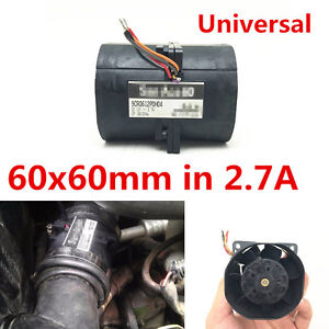 Universal 1pcs Car Electric Turbo Double Fan Supercharger Boost Intake Fans 2 7a