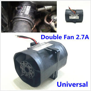 Car Suv Electric Turbo Double Fan Supercharger Boost Intake Fans 2 7a Universal