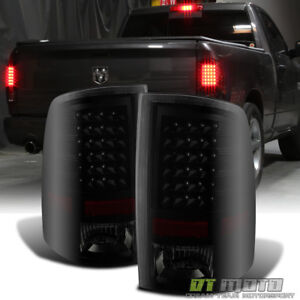 Black Smoke 2009 2018 Dodge Ram 1500 2010 2018 2500 3500 Led Tail Lights Lamps