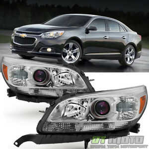 Left Right 2013 2014 2015 Chevy Malibu Replacement Halogen Projector Headlights