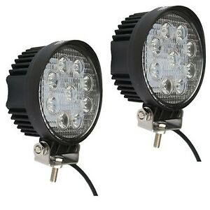 27w Round Spot Led Work At Off road Suv Boat 4x4 Light Bar Jeep Lamp 4wd