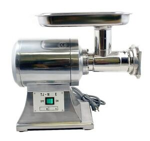 New True 1hp Commercial Stainless Steel Automatic Electric Meat Grinder 22