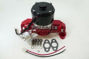 Sbc Small Block Chevy Aluminum Electric Water Pump 35 Gpm Red High Flow Volume