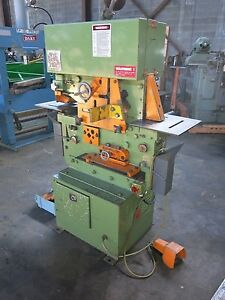 Peddinghaus Model 880 Hydraulic Iron Worker 230 460 3 Phase 88 Ton Compact