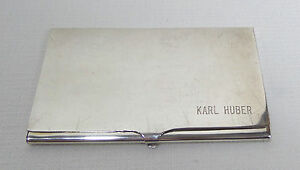Vtg Sterling Silver Business Card Holder Engraved 58 2 Grams