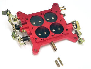 Performance 850 Carburetor Base Plate Holley Quickfuel Double Pumpers Carb Red