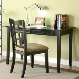 Coaster Furniture 800779 Home Office Desk And Chair Set Black Finish