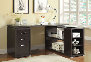 Coaster 800517 Yvette Contemporary Office Black Finish L Shaped Desk