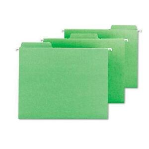 Smead 64098 Fastab Hanging File Folders Letter Green 20 box