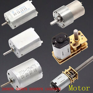 Dc 1 5v 12v Motors Mute Micro Shaft High Torque Speed Gear Motors 400rpm Set