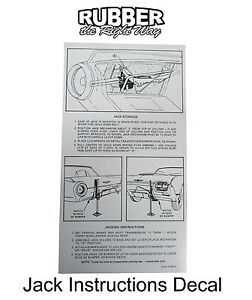1962 Ford Thunderbird Jack Instructions Decal