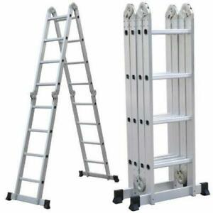 10 5 16 5ft Aluminium Multi purpose Foldable Extension Ladder Telescopic Steps