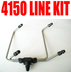 New Enderle Dual Fuel Line 4150 Line Kit Holley Blower Carbs 40363m