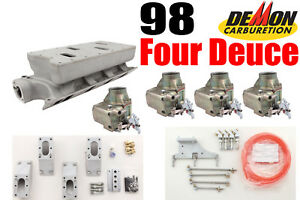 Barry Grant Demon 9816 98 Four Deuce Induction Package For Sb Ford Last One