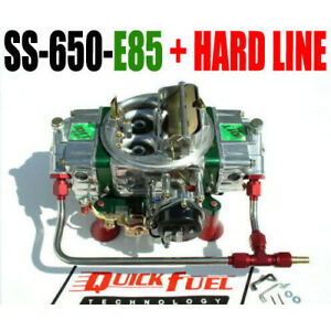 Quick Fuel Ss 650 e85 650 Cfm E 85 Fuel Mech Carb With Choke Hard Line Kit