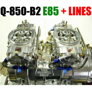 Quick Fuel Q 850 B2 E85 850 Cfm Blower Supercharger Carbs Clear Carbs W Lines