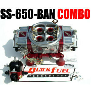 Quick Fuel Ss 650 ban Gas Blow Through Ann Regulator Combo Look New