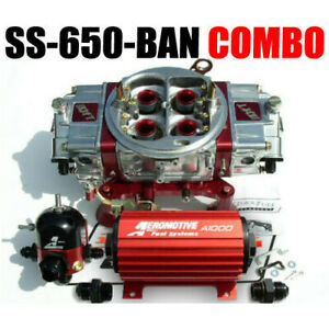Quick Fuel Ss 650 ban Cfm Gas Blow Through Ann Regulator Pump Combo New