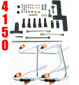 Dual Inlet 4150 Mech Blower Fuel Lines Black Color Kit Holley Linkage Combo