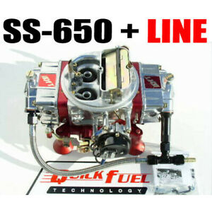 Quick Fuel Ss 650 Cfm Gas Mech Carb With Choke Line 6 Line Kit