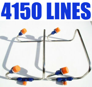 Dual Inlet 4150 Blue Supercharger Blower Fuel Line Kit Holley Carbs