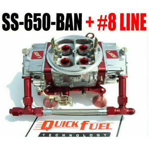 Quick Fuel Ss 650 ban 650 Mech Blow Thru Gas Annular 8 Red Fuel Line Kit
