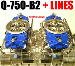 Quick Fuel Q 750 b2 Cfm Powder Coated Supercharger Carbs Lines Red Or Blue Link
