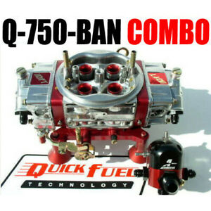 Quick Fuel Q 750 ban Ann Mech Blow Through Drag Race Regulator Fitting Combo