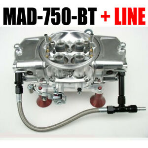 Mighty Demon 750 Cfm Annular Blow Thru Carb Mad 750 bt With 6 Black Line Kit