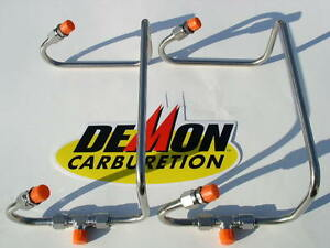 New Dual Inlet 4150 Flange Fuel Line Kit For Demon Blower Or Tr Carbs