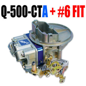 Quick Fuel Q 500 Cta 500 Cfm Circle Track Alcohol Carb With Fitting In Stock