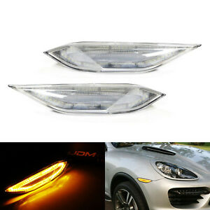 Clear Lens Amber white Switchback Led Side Marker Lamp For 11 14 Porsche Cayenne