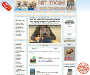 Pet Store Complete Ready Made Affiliate Website Ebay adsense amazon clickbank