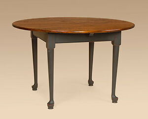 Primitive Round Kitchen Table 42in Cherry Wood Pennsylvania Made Quality Great