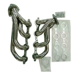 Ss Racing Manifold Shorty Header Exhaust For Yukon Silverado 1500 2500 Chevy 6 0