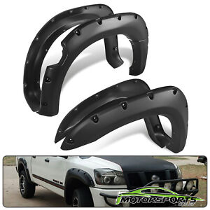 For 2004 2014 Nissan Titan W O Bedside Lockbox Black Front Rear Fender Flares