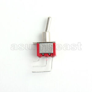 5 Mini Right Angle Toggle Switch Switches Spdt 2 Position On On Pcb Mounting