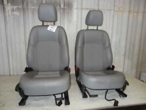 12 13 Buick Verano Front Bucket Seats Set Pair Gray Leather Cloth 122998