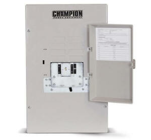 Champion 50amp Nema1 Transfer Switch factory Reconditioned 100947 r