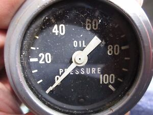 Vintage Stewart Warner 0 100 Oil Pressure Gauge Gage Hot Rat Rod