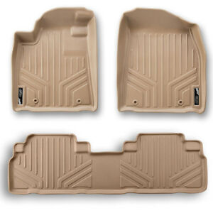 Maxfloormat Floor Mats For Honda Pilot 2009 2015 2 Row Set Tan