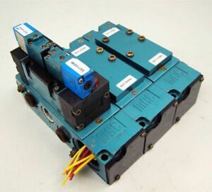 Mac Pneumatic Solenoid 3 Valve Block Bank Mm p2a 231b
