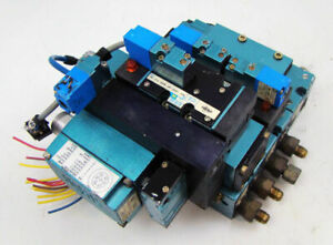 Mac Pneumatic Solenoid 3 Valve Block Bank Mv p2a abda