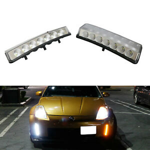 Clear Switchback Led Daytime Running Light turn Signal For 03 05 Nissan 350z